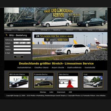 Website Taxi & Limousinenservice Leipzig
